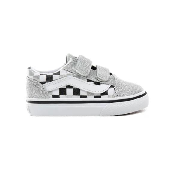 sparkly checkered vans